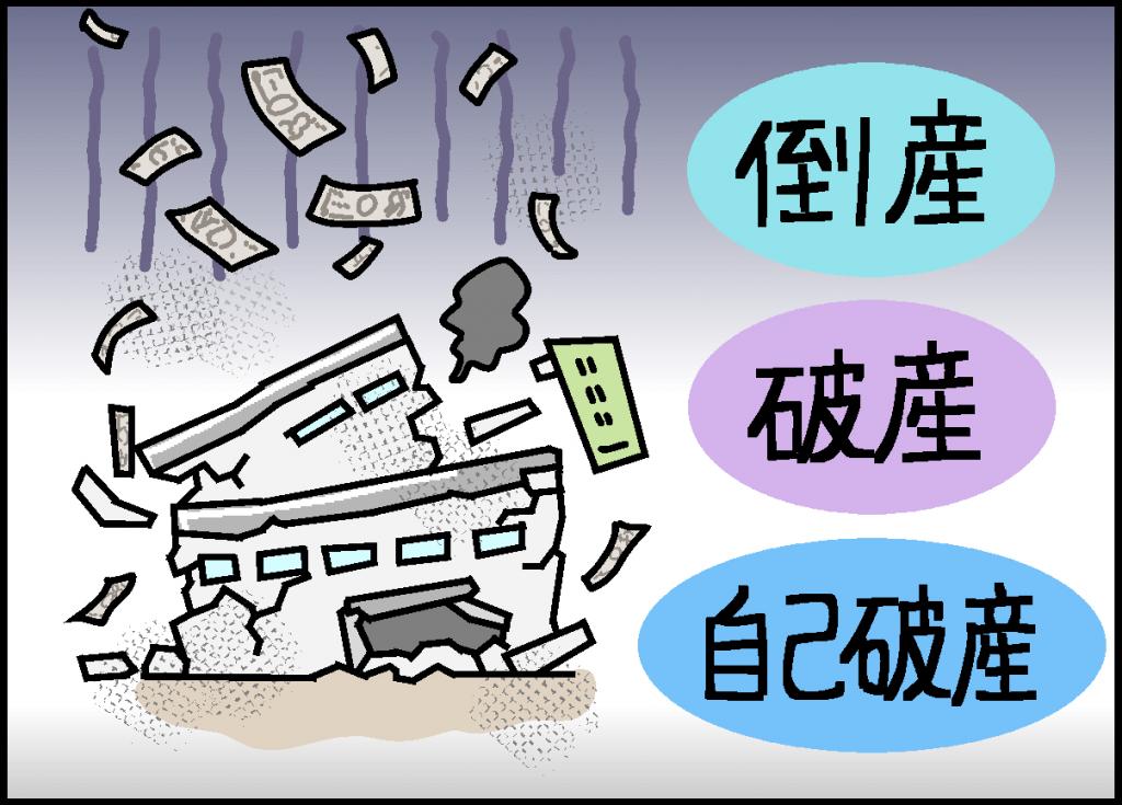 倒産・破産・自己破産の違い