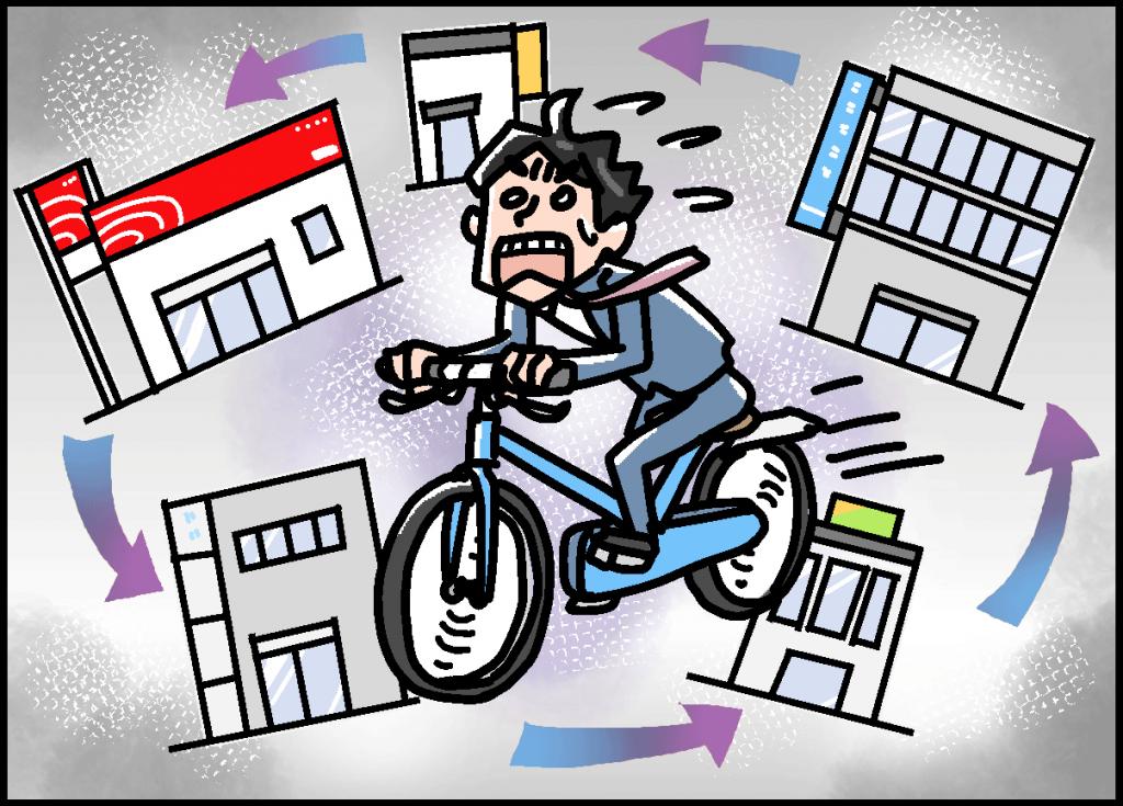 「自転車操業」の画像検索結果